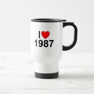 Jag älskar (hjärta) 1987 rostfritt stål resemugg