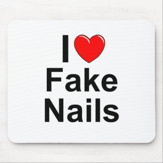 Jag älskar (hjärta) fejkar naglar mus mattor
