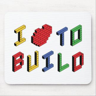 Jag älskar hjärta för att bygga - att bygga musmattor