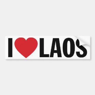 """Jag älskar hjärta Laos den 11-"""" 28cm vinyldekalet Bildekal"""