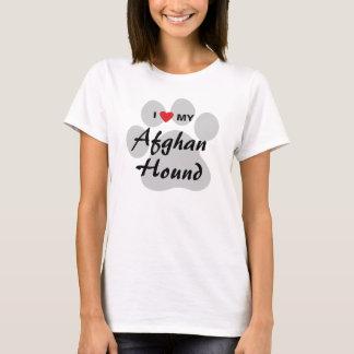 Jag älskar (hjärta) min afghanska hund t-shirt
