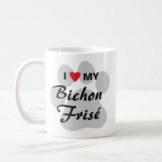 Jag älskar (hjärta) min Bichon Frise Kaffemugg