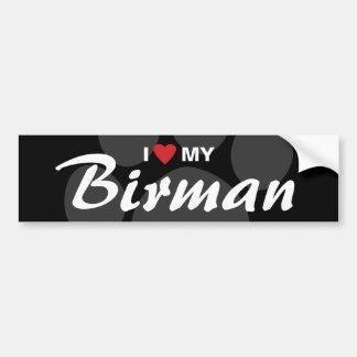 Jag älskar (hjärta) min Birman Bildekal