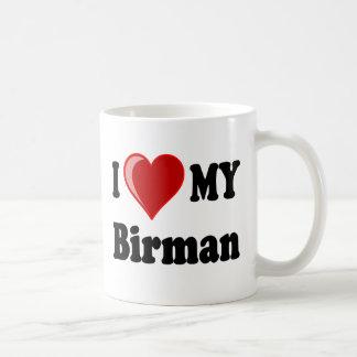 Jag älskar (hjärta) min Birman katt Kaffemugg
