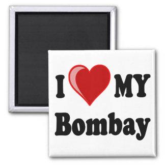 Jag älskar (hjärta) min Bombay katt Magnet