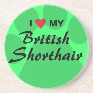 Jag älskar (hjärta) min brittiska Shorthair Underlägg