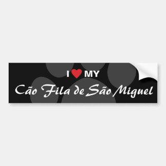 Jag älskar (hjärta) min Cão Fila de São Miguel Bildekal