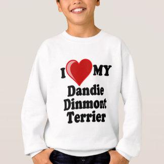 Jag älskar (hjärta) min Dandie Dinmont Terrierhund Tee Shirt