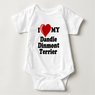 Jag älskar (hjärta) min Dandie Dinmont Terrierhund Tröja