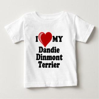 Jag älskar (hjärta) min Dandie Dinmont Terrierhund Tröjor