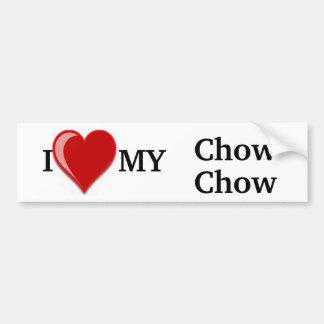 Jag älskar (hjärta) min hund för ChowChow Bildekal