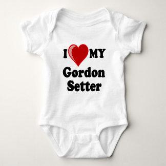 Jag älskar (hjärta) min hund för den Gordon T-shirts