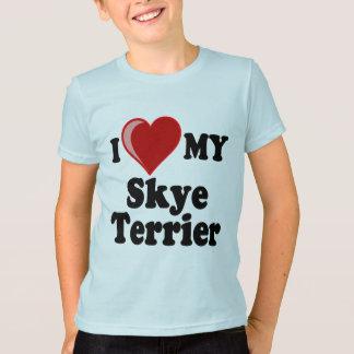 Jag älskar (hjärta) min hund för den Skye T-shirt