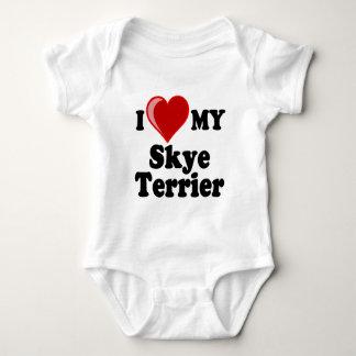 Jag älskar (hjärta) min hund för den Skye T-shirts