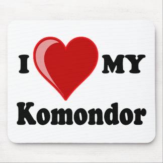 Jag älskar (hjärta) min Komondor hund Musmatta