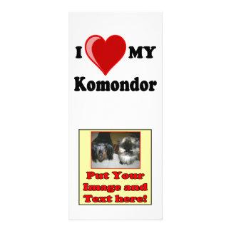 Jag älskar (hjärta) min Komondor hund Reklamkort