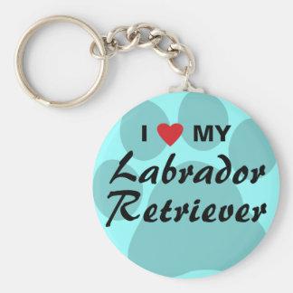 Jag älskar (hjärta) min Labrador Retriever Rund Nyckelring