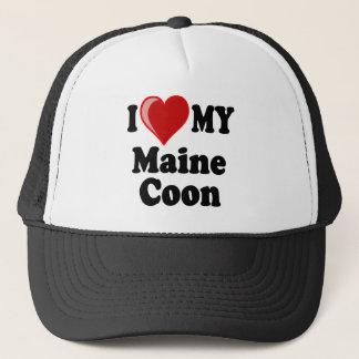 Jag älskar (hjärta) min Maine Coonkatt Keps