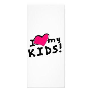 Jag älskar (hjärta) min ungar! reklamkort