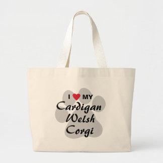 Jag älskar (hjärta) min walesiska Corgi för koftan Jumbo Tygkasse