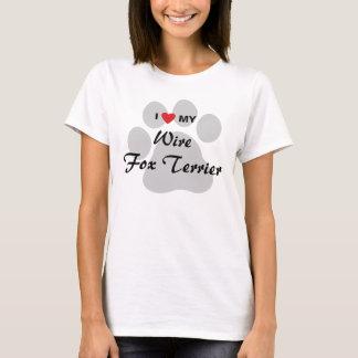 Jag älskar (hjärta) mitt binder foxterrierhund t shirts