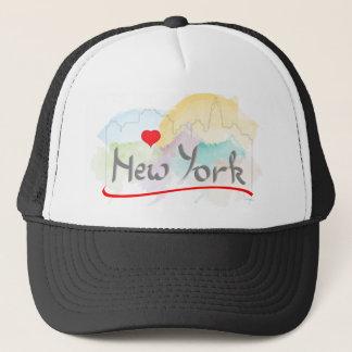 Jag älskar (hjärta) New York, New York Truckerkeps