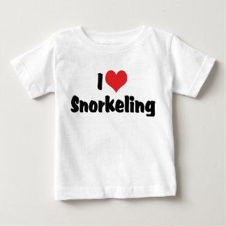 Jag älskar hjärta som Snorkeling - den tropiska Tee Shirt
