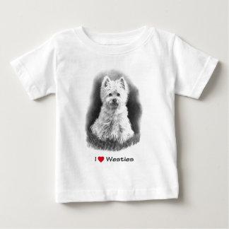 Jag älskar (hjärta) Westies: Rita teckningen T Shirts