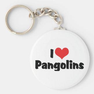 Jag älskar hjärtaPangolins - Pangolinälskare Rund Nyckelring