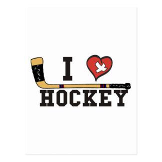 Jag älskar hockey vykort