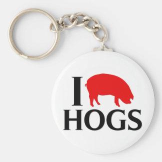 Jag älskar Hogs Rund Nyckelring