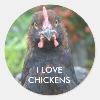 Jag älskar hönor…, Cochin klistermärke