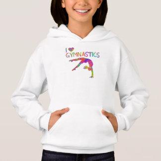 Jag älskar hoodien för gymnastikTiefärg T-shirt