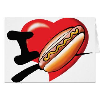 Jag älskar Hotdogs noterar kort