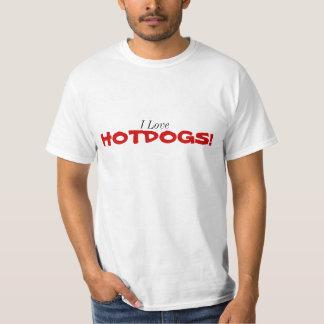 Jag älskar Hotdogs! Tee Shirt