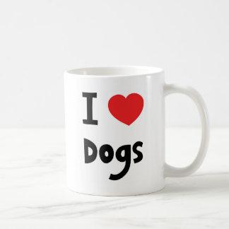 Jag älskar hundar kaffemugg