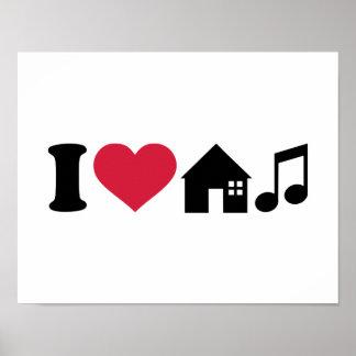 Jag älskar husmusik affischer