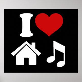 Jag älskar husmusik posters