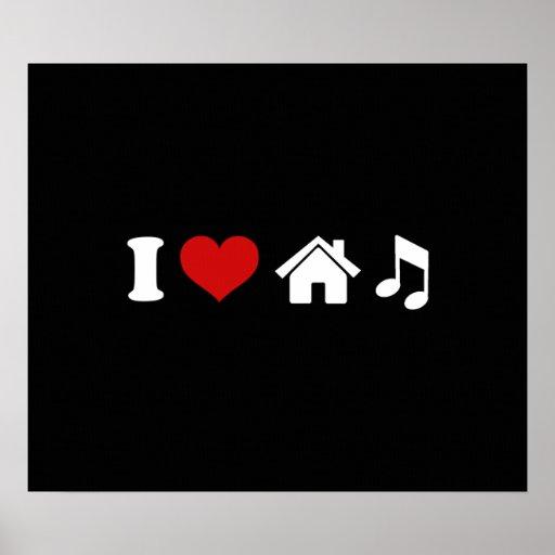 Jag älskar husmusik affisch