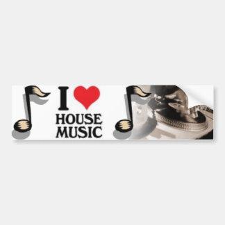 Jag älskar husmusik bildekal