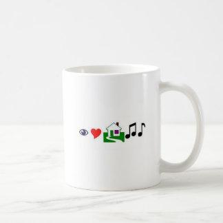 Jag älskar husmusik! kaffemugg