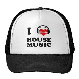 Jag älskar husmusik baseball hat