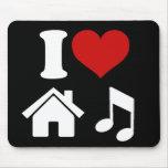 Jag älskar husmusik musmattor