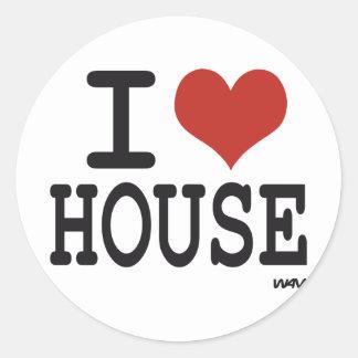 Jag älskar husmusik runt klistermärke