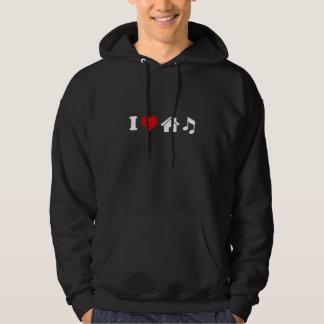 Jag älskar husmusik sweatshirt