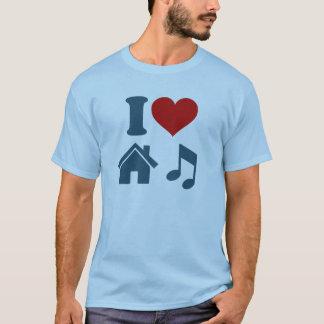 Jag älskar husmusik t-shirts