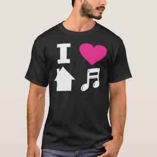 Jag älskar husmusik tröjor