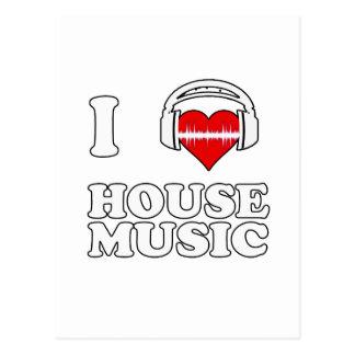 Jag älskar husmusik vykort