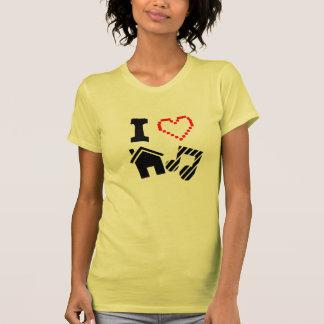 Jag älskar husmusikdamer t shirts