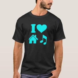 Jag älskar husmusikskjortan t shirts